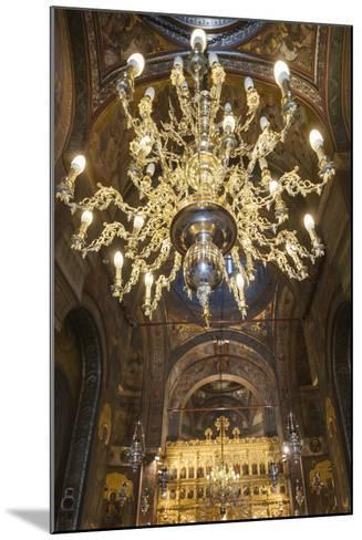 Romania, Bucharest, Romanian Patriarchal Cathedral, Interior-Walter Bibikow-Mounted Photographic Print
