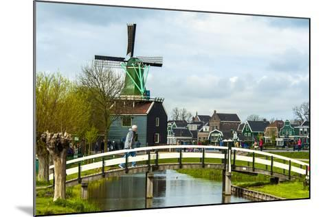 A Bridge Leading to a Village of Historic Homes in the Netherlands-Sheila Haddad-Mounted Photographic Print