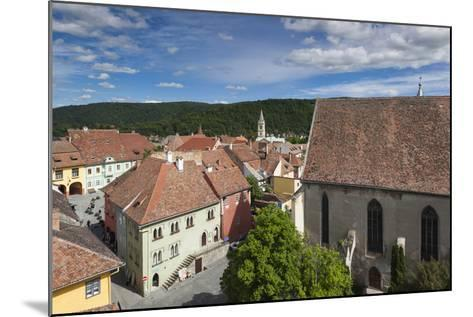 Romania, Transylvania, Sighisoara, Elevated View of Square-Walter Bibikow-Mounted Photographic Print