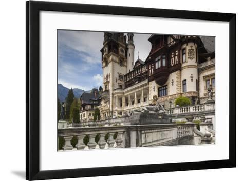 Romania, Transylvania, Sinaia, Peles Castle, Built 1875-1914-Walter Bibikow-Framed Art Print