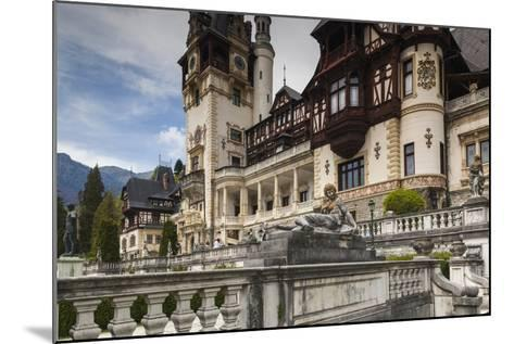 Romania, Transylvania, Sinaia, Peles Castle, Built 1875-1914-Walter Bibikow-Mounted Photographic Print
