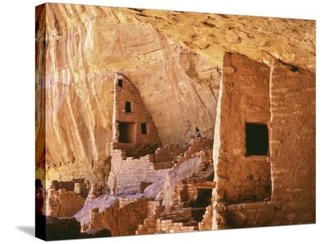 USA, Colorado, Mesa Verde, Long House-John Ford-Stretched Canvas Print