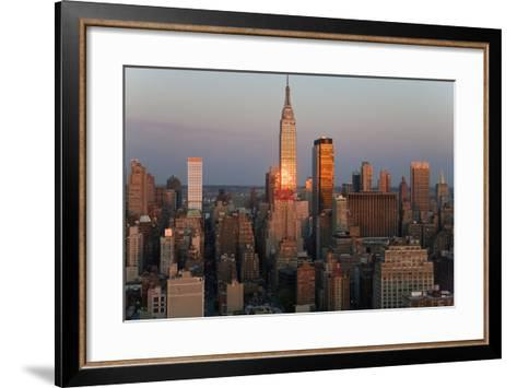 Empire State Building and Midtown Manhattan, New York, USA-Peter Adams-Framed Art Print