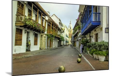 Architecture in the Plaza de San Pedro Claver, Cartagena, Colombia-Jerry Ginsberg-Mounted Photographic Print