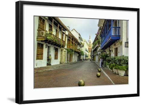 Architecture in the Plaza de San Pedro Claver, Cartagena, Colombia-Jerry Ginsberg-Framed Art Print