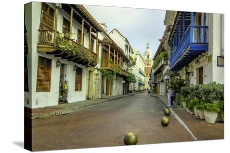 Architecture in the Plaza de San Pedro Claver, Cartagena, Colombia-Jerry Ginsberg-Stretched Canvas Print