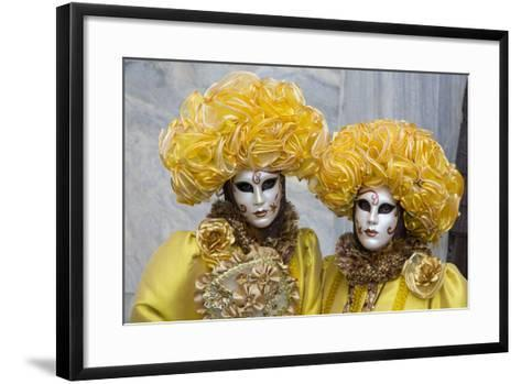 Venice, Italy. Mask and Costumes at Carnival-Darrell Gulin-Framed Art Print