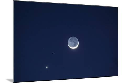 USA, California. Moon, Venus and Pluto in the Night Sky-Dennis Flaherty-Mounted Photographic Print