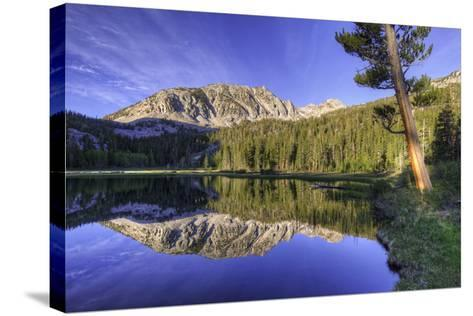 California, Sierra Nevada Mountains. Calm Reflections in Grass Lake-Dennis Flaherty-Stretched Canvas Print