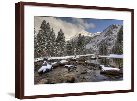 USA, California, Sierra Nevada Range. Spring Snow at North Lake-Dennis Flaherty-Framed Art Print