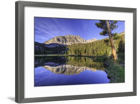 California, Sierra Nevada Mountains. Calm Reflections in Grass Lake-Dennis Flaherty-Framed Art Print