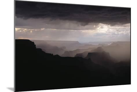 Dramatic Weather over the Grand Canyon, Yaki Point, Arizona-Greg Probst-Mounted Photographic Print