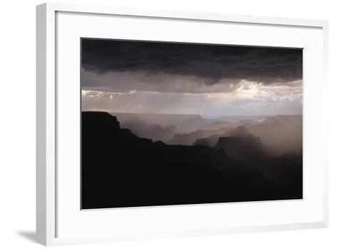 Dramatic Weather over the Grand Canyon, Yaki Point, Arizona-Greg Probst-Framed Art Print
