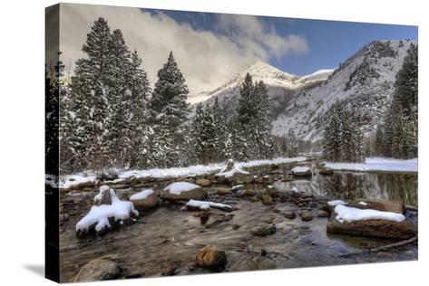 USA, California, Sierra Nevada Range. Spring Snow at North Lake-Dennis Flaherty-Stretched Canvas Print