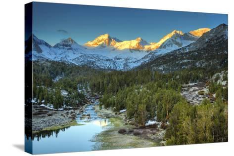USA, California, Sierra Nevada Range. Mack Lake at Sunrise-Dennis Flaherty-Stretched Canvas Print