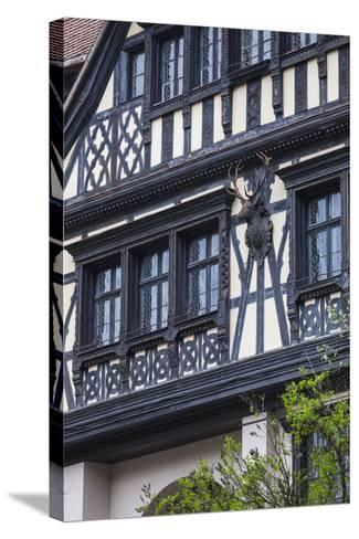 Romania, Transylvania, Sinaia, Peles Castle, Palace Buildings-Walter Bibikow-Stretched Canvas Print