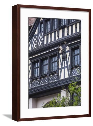 Romania, Transylvania, Sinaia, Peles Castle, Palace Buildings-Walter Bibikow-Framed Art Print