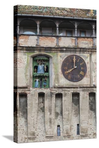 Romania, Transylvania, Sighisoara, Clock Tower, Built in 1280-Walter Bibikow-Stretched Canvas Print