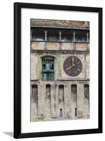 Romania, Transylvania, Sighisoara, Clock Tower, Built in 1280-Walter Bibikow-Framed Art Print