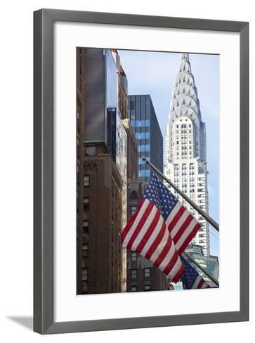 Chrysler Building with Star and Stripes, New York, USA-Peter Adams-Framed Art Print
