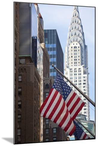 Chrysler Building with Star and Stripes, New York, USA-Peter Adams-Mounted Photographic Print