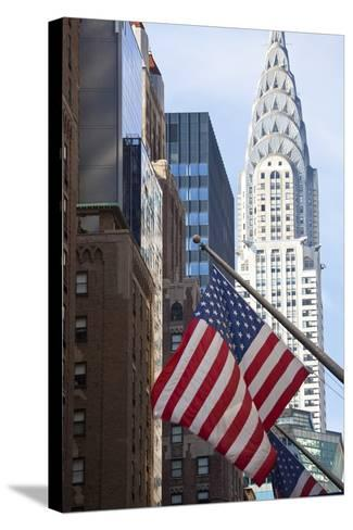 Chrysler Building with Star and Stripes, New York, USA-Peter Adams-Stretched Canvas Print