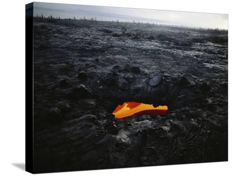 Hawaii Islands, Kilauea, Lava into Ocean-Douglas Peebles-Stretched Canvas Print