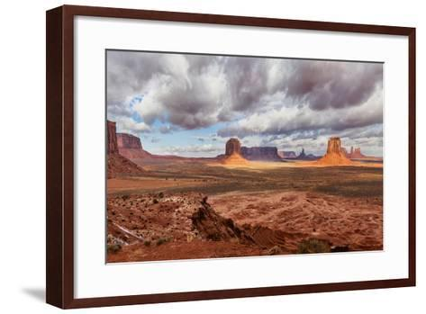 USA, Arizona, Monument Valley, under Clouds-John Ford-Framed Art Print