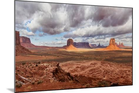 USA, Arizona, Monument Valley, under Clouds-John Ford-Mounted Photographic Print