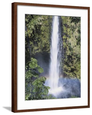 Hawaii Islands, Hamakua Coast, View of Beautiful Akaka Falls-Douglas Peebles-Framed Art Print