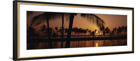 Hawaii Islands, Waikoloa, View of Anaehoomalu Bay-Douglas Peebles-Framed Art Print