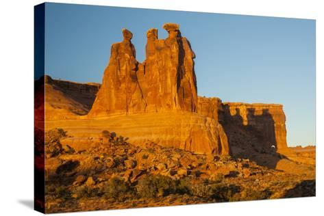 USA, Utah, Arches NP. the Three Gossips Formation at Sunrise-Cathy & Gordon Illg-Stretched Canvas Print