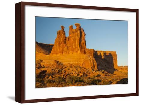USA, Utah, Arches NP. the Three Gossips Formation at Sunrise-Cathy & Gordon Illg-Framed Art Print