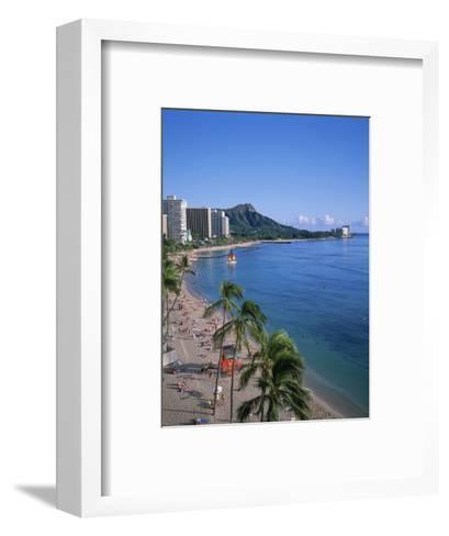 Waikiki, Oahu, Hawaii, USA-Douglas Peebles-Framed Art Print