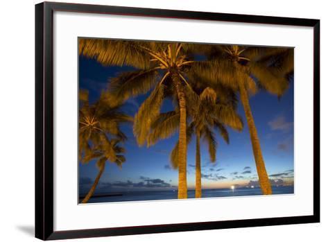 Twilight, Waikiki, Honolulu, Oahu, Hawaii-Douglas Peebles-Framed Art Print