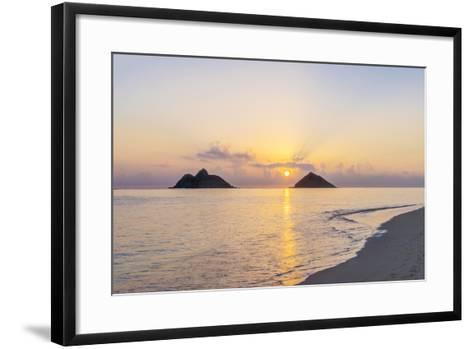 USA, Hawaii, Oahu, Lanikai Beach Sunrise-Rob Tilley-Framed Art Print