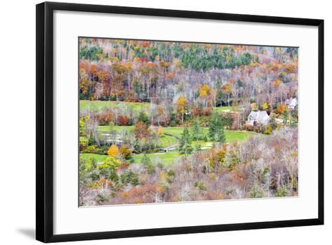 North Carolina, Blue Ridge Parkway, View from Flat Rock Overlook-Jamie & Judy Wild-Framed Art Print