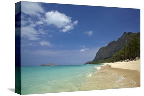USA, Hawaii, Oahu, Waimanalo Beach-David Wall-Stretched Canvas Print