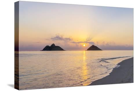 USA, Hawaii, Oahu, Lanikai Beach Sunrise-Rob Tilley-Stretched Canvas Print