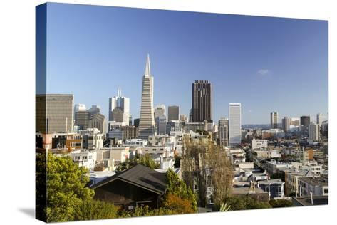 A View from Telegraph Hill, San Francisco, California, USA-Susan Pease-Stretched Canvas Print