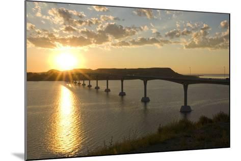 Four Bears Bridge Stretches across the Missouri River, North Dakota-Angel Wynn-Mounted Photographic Print
