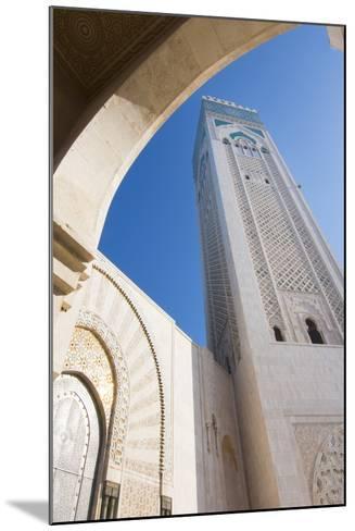 Casablanca, Morocco Exterior, Famous Hassan II Mosque-Bill Bachmann-Mounted Photographic Print