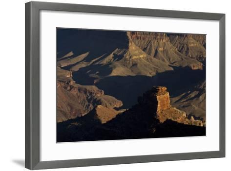 Illuminated Buttes, Pipe Creek Vista, Grand Canyon NP, Arizona-Michel Hersen-Framed Art Print
