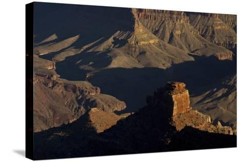 Illuminated Buttes, Pipe Creek Vista, Grand Canyon NP, Arizona-Michel Hersen-Stretched Canvas Print