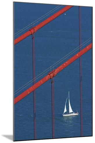 California, San Francisco, Golden Gate Bridge and Yacht-David Wall-Mounted Photographic Print