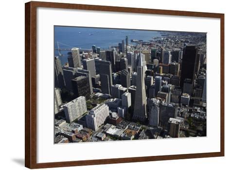 California, San Francisco, Transamerica Pyramid Skyscraper and Skyline-David Wall-Framed Art Print