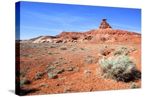 Mexican Hat Rock in the San Juan River Valley, on Highway 261, Utah-Richard Wright-Stretched Canvas Print