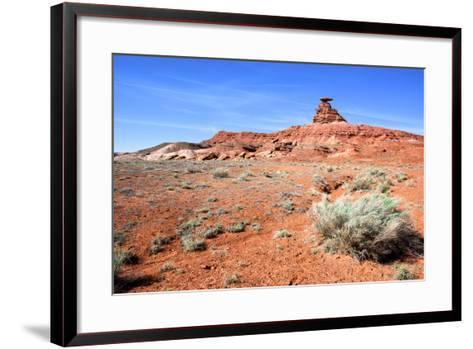 Mexican Hat Rock in the San Juan River Valley, on Highway 261, Utah-Richard Wright-Framed Art Print