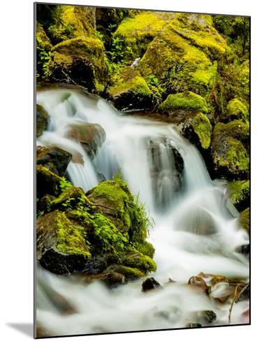 Oregon, Columbia River Gorge Scenic Area, Wahkeena Falls-Richard Duval-Mounted Photographic Print
