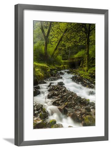 Oregon, Wahkeena Falls. Located Along I-84, the Columbia River Gorge-Richard Duval-Framed Art Print